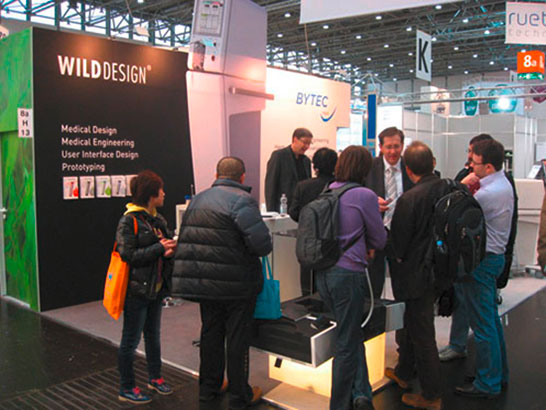 Bytec / Wilddesign Messestand auf der Medizintechnik Messe Compamed