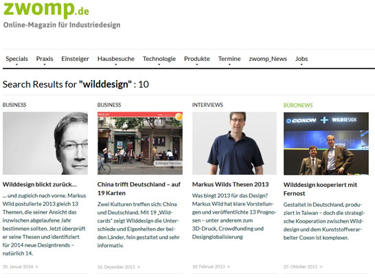 WILDDESIGN im zwomp Magazin