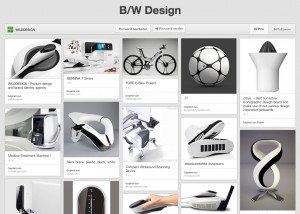 b&w black&white product design