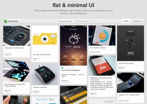 flat and minimal user interfaces UI