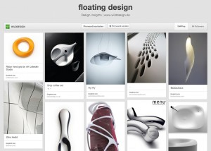 fliessendes produktdesign floating design