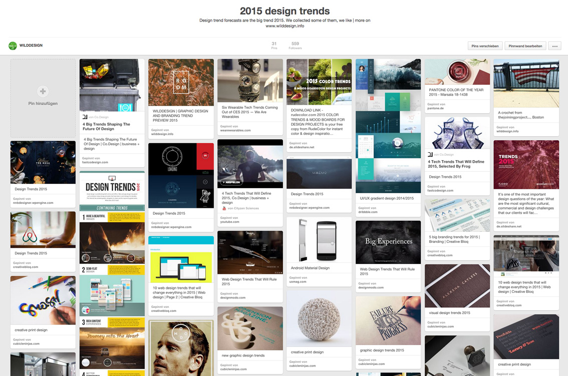 pinterest board design trends 2015
