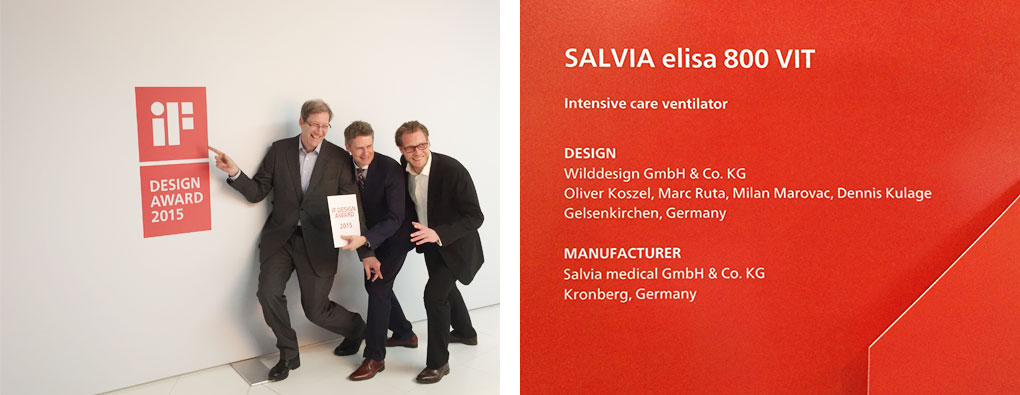 IF design award 2015, M.Wild (WILDDESISN), C.Hartmann (Salvia Medical), O.Koszel (WILDDESIGN)